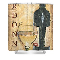 Chardonnay Wine And Grapes Shower Curtain by Debbie DeWitt
