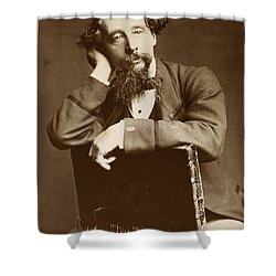 Charles Dickens Shower Curtain by Granger