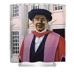 Charles Harpum Receiving Doctorate Of Law Shower Curtain by Richard Harpum