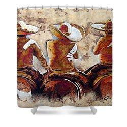 Charros Shower Curtain by Jose Espinoza