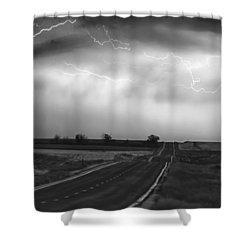 Chasing The Storm - County Rd 95 And Highway 52 - Colorado Shower Curtain by James BO  Insogna