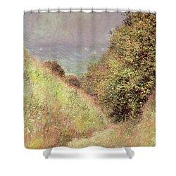 Chemin De La Cavee Pourville Shower Curtain by Claude Monet
