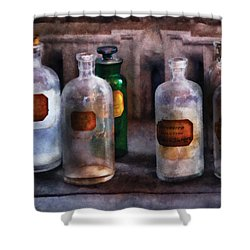 Chemistry - Saturated Solutions Shower Curtain by Mike Savad