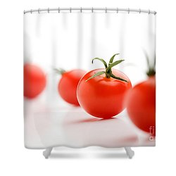 Cherry Tomatoes Shower Curtain by Kati Molin