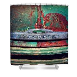 Chevy Rust Shower Curtain by Perry Webster