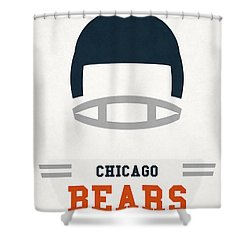 Chicago Bears Vintage Art Shower Curtain by Joe Hamilton