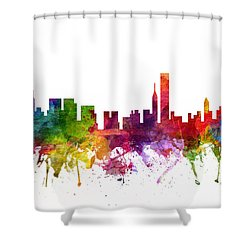 Chicago Cityscape 06 Shower Curtain by Aged Pixel