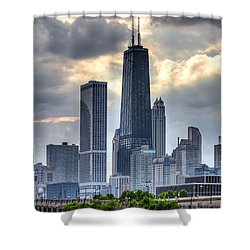 Chicago From The Pier Shower Curtain by Joshua Ball