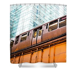 Chicago L Elevated Train  Shower Curtain by Paul Velgos