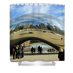 Chicago Reflected Shower Curtain by Kristin Elmquist