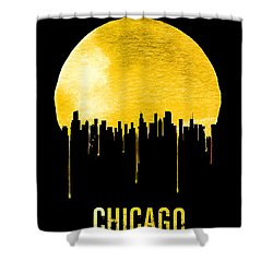 Chicago Skyline Yellow Shower Curtain by Naxart Studio
