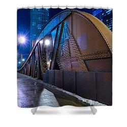 Chicago Steel Bridge Shower Curtain by Steve Gadomski