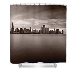 Chicago Storm Shower Curtain by Steve Gadomski