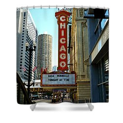 Chicago Theater - 1 Shower Curtain by Ely Arsha