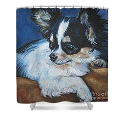 Chihuahua Shower Curtain by Lee Ann Shepard