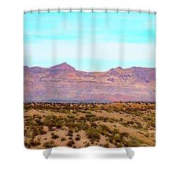 Chinati Range Shower Curtain by Steven Green