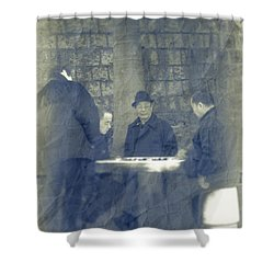 Chinese Chess Players Shower Curtain by Loriental Photography