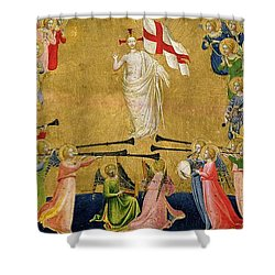 Christ Glorified In The Court Of Heaven Shower Curtain by Fra Angelico
