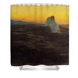 Christ In The Wilderness Shower Curtain by Briton Riviere