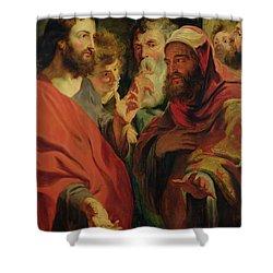 Christ Instructing Nicodemus Shower Curtain by Jacob Jordaens