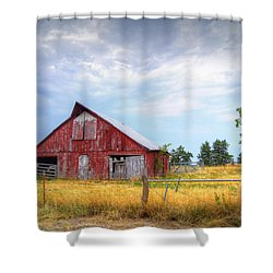 Christian School Road Barn Shower Curtain by Cricket Hackmann