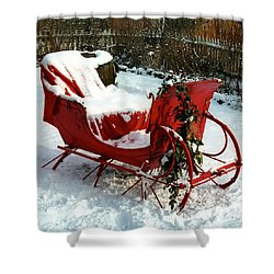 Christmas Sleigh Shower Curtain by Andrew Fare