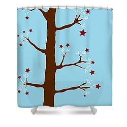 Christmas Tree Shower Curtain by Frank Tschakert