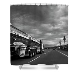 Chrome Tanker Shower Curtain by Theresa Tahara
