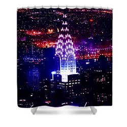 Chrysler Building At Night Shower Curtain by Az Jackson