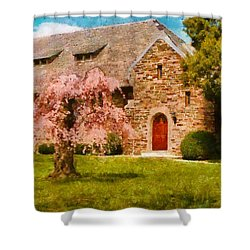 Church - Heaven Created Shower Curtain by Mike Savad