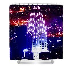 Chyrsler Lights Shower Curtain by Az Jackson