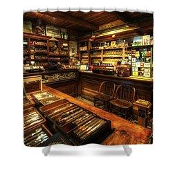 Cigar Shop Shower Curtain by Yhun Suarez