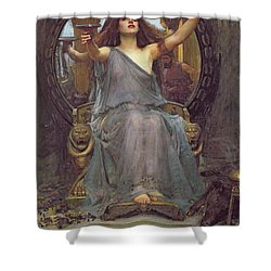 Circe Offering The Cup To Ulysses Shower Curtain by John Williams Waterhouse