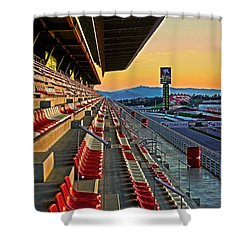 Circuit De Catalunya - Barcelona  Shower Curtain by Juergen Weiss
