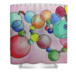 Circular Reasoning Shower Curtain by Donna Blackhall