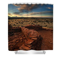 Citadel Walls Shower Curtain by Mike  Dawson