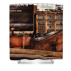 City - Ny - New York History Shower Curtain by Mike Savad