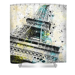 City-art Paris Eiffel Tower Iv Shower Curtain by Melanie Viola