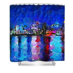City Limits Tokyo Shower Curtain by Sir Josef Social Critic - ART