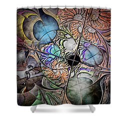 Clash Of The Earthly Elements Shower Curtain by Casey Kotas