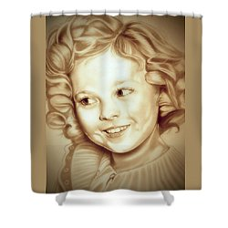 Classic Shirley Temple Shower Curtain by Fred Larucci