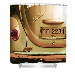 Classic Vw Beetle In Thailand Shower Curtain by Georgia Fowler