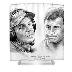 Clemson Vs Florida State Shower Curtain by Greg Joens