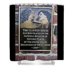 Clinton House Museum 2 Shower Curtain by Randall Weidner