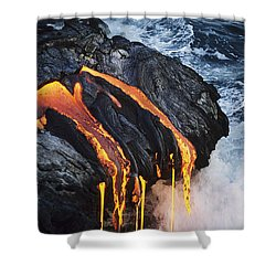Close-up Lava Shower Curtain by Don King - Printscapes