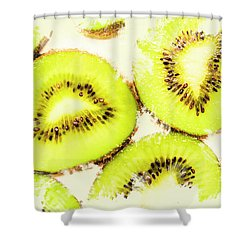 Close Up Of Kiwi Slices Shower Curtain by Jorgo Photography - Wall Art Gallery