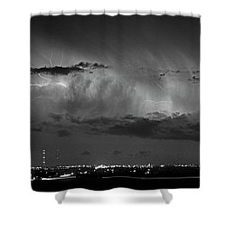 Cloud To Cloud Lightning Boulder County Colorado Bw Shower Curtain by James BO  Insogna