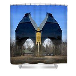 Coal Loader New Buffalo Shower Curtain by John Hansen