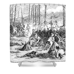 Coal Miner Strike, 1871 Shower Curtain by Granger