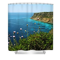 Coast Shower Curtain by Oliver Johnston